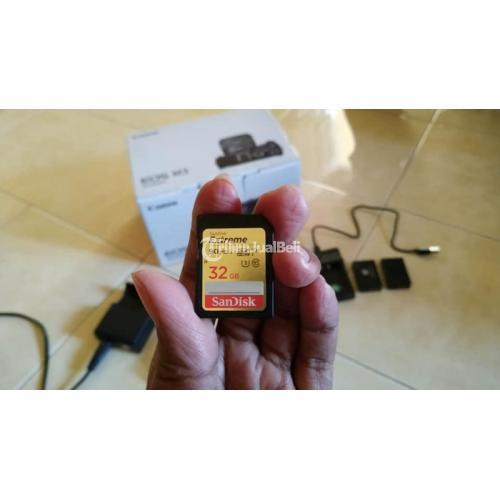 Kamera Mirorless Canon EOS M3 Bekas Mulus Fullset Bonus Memori 32GB - Blitar