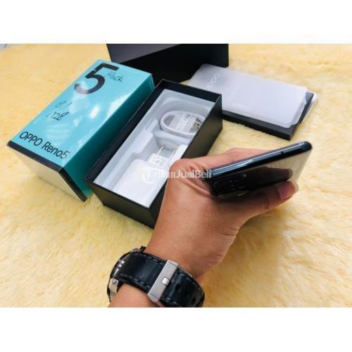 HP Oppo Reno 5 Ram 8GB/128GB Bekas Fullset Mulus No Minus - Yogyakarta
