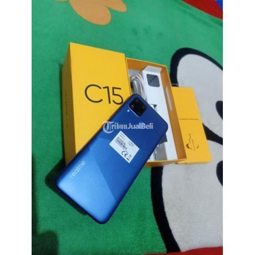 HP Realme C15 Ram 4GB/64GB Fullset Bekas Mulus No Minus - Makassar