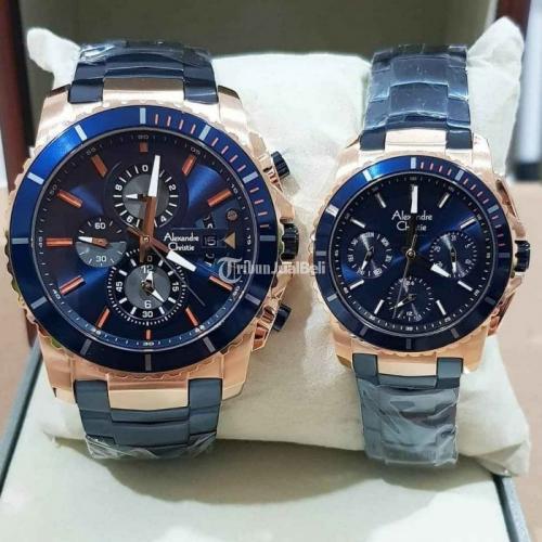 Jam tangan Alexandre Christie 6455 Couple Baru Bergaransi Resmi - Medan