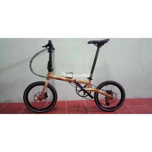 Sepeda Lipat Element Troy X10 Gold Edition Bekas Upgrade Mulus - Jogja