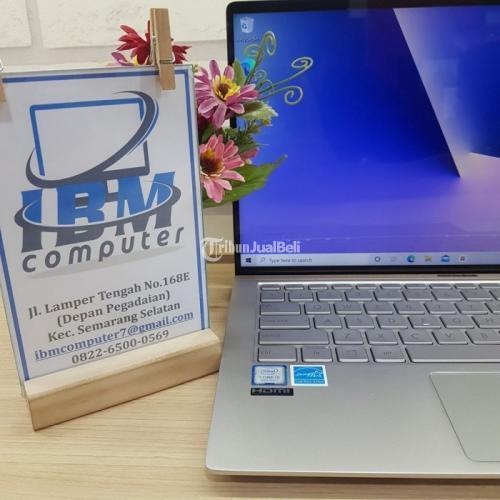 Laptop Asus Zenbook UX433F i5 Ram 8GB SSD 256GB Bekas Fullset - Semarang