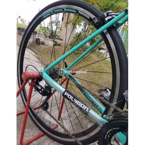 Sepeda Polygon Strattos S3 Limited Tosca Ukuran L Bekas Like New - Gresik