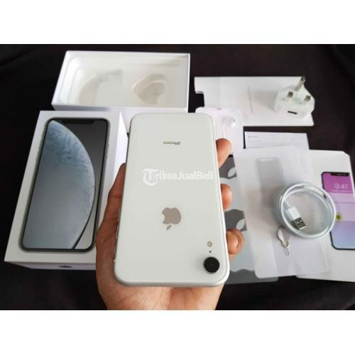 HP Apple iPhone XR 64GB Bekas Fullset Mulus Normal Nominus - Denpasar