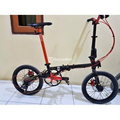 Sepeda Lipat Element Troy Gen 1 Cromoli Bekas Mulus Jarang Pakai Harga Nego - Maros