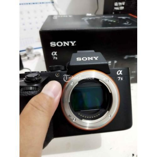 Kamera Mirrorless Sony A7ii + Lensa Sony FE28mm F2 Bekas Normal Mulus - Makassar