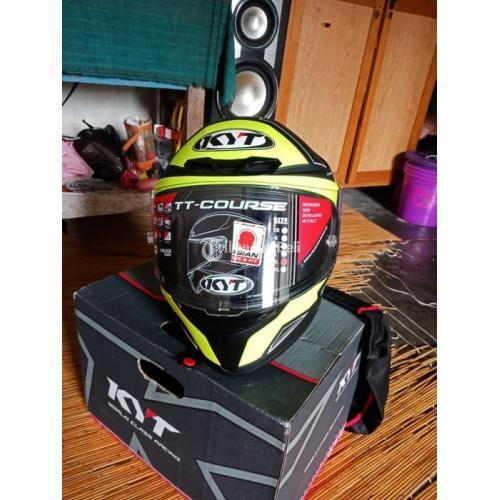 Helm Full Face KYT TT Course Size XL fit L Baru Lengkap - Balikpapan