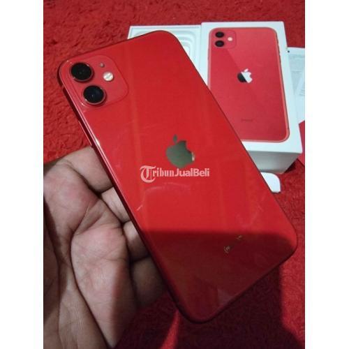 HP Apple iPhone 11 64GB iBox Mulus Fullset Ori Second Like New - Bandung