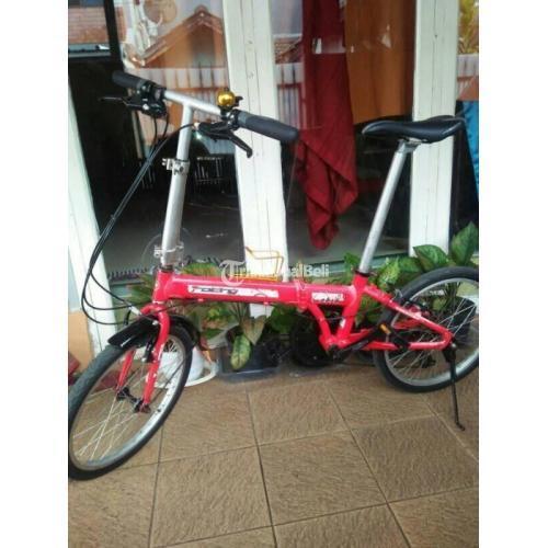 Sepeda Lipat Folding Cobra Frame Alloy Size 20 Bekas Kondisi Normal - Bekasi