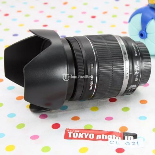 Lensa Canon EFS 18-200mm Kondisi Bekas Bebas Jamur Mulus - Bandung