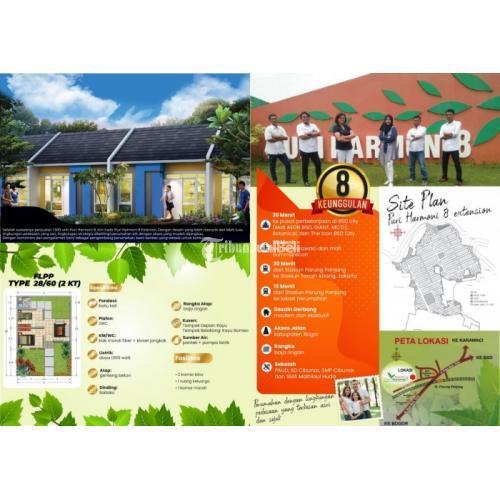 Dijual Rumah Baru di Perumahan Puri Harmoni 8 Extension Lokasi Terbaik - Bogor