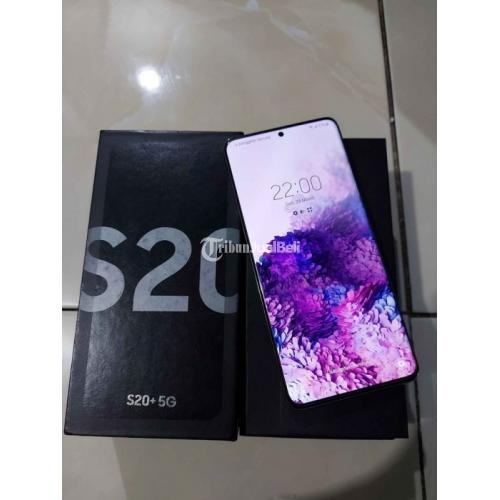 HP Samsung S20+ 5G Gray Fullset Resmi Sein 8/128 GB Mulus Normal - Makassar