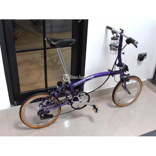 Sepeda Lipat Brompton Purple Metallic S6E 2019 Bekas Normal Harga Nego - Jakarta