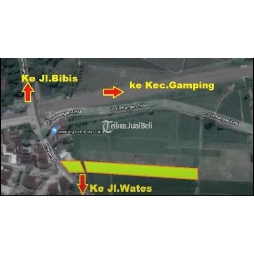Dijual TANAH MURAH JOGJA, utara GARASI bis EFISIENSI GAMPING. Lt 1162m2 ld 10m - Sleman