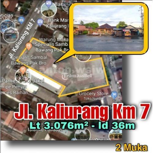 Dijual Tanah Tepi JL.Kaliurang Km7 2 Muka Dekat Pasar dan Bank Lt 3.076m2 Ld 36m - Jogja