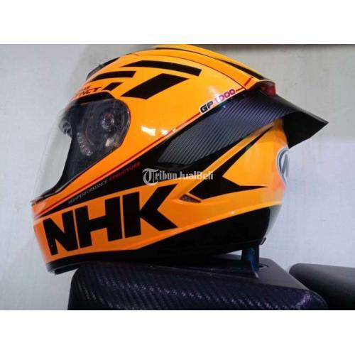 Helm Full Face NHK GP1000 + Spoiler Fiber Bekas Bagus Mulus - Cimahi