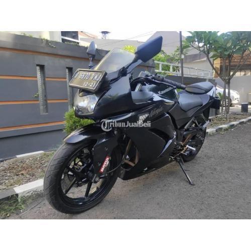 Motor Kawasaki Ninja 250 Cc 2011 Hitam Surat Lengkap  Bekas Harga Nego - Tangerang