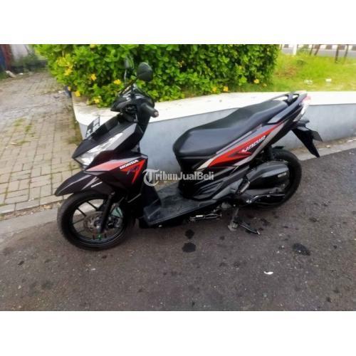 Motor Honda Vario 125 2015 Hitam Bekas Normal Full Original - Semarang