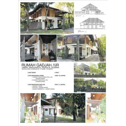 Dijual Rumah TROPIS  PAVILIUN Lt 1180m² Bekas Utara Jl DAMAI, Jarak 5,9Km ke UGM - Sleman