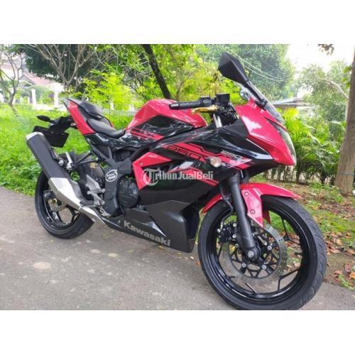 Motor Kawasaki Ninja 250cc 2017 Merah Pajak Panjang Body Mulus Bekas - Jakarta Utara