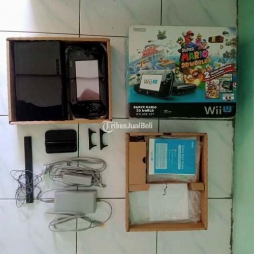 Konsol Game Nintendo Wii U Deluxe Set Super Mario 3D World Edition Like New - Surabaya