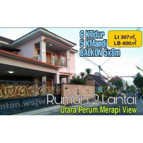 Dijual Rumah 2 LANTAI,CARPORT-GARASI 4Mobil.UTARA Perum MERAPI VIEW Jl.Kaliurang Km 9,5 - Sleman