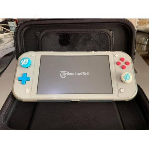 Nintendo Switch Lite Pokemon Zacian Zamazenta Fullset Like New + Bonus - Surabaya