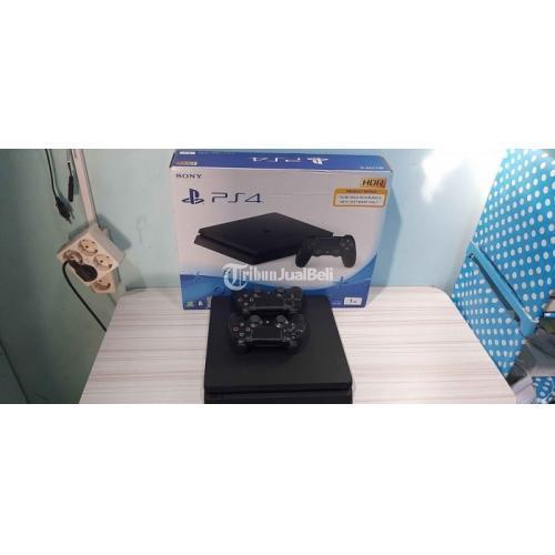 Konsol Game Sony PS4 Slim 1TB Bekas Like New Fullset Segel Void - Solo