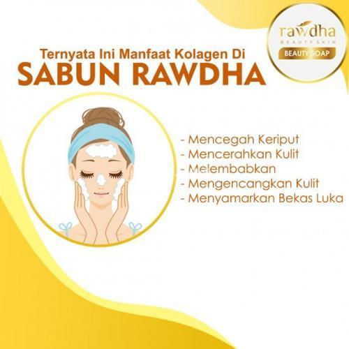 Sabun Collagen Rawdha Original Sabun Pemutih Wajah Muka Glowing Aman BPOM - Bekasi