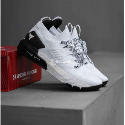 Sepatu Pria Armour Project3 White Black Baru BNIB Harga Murah - Surabaya