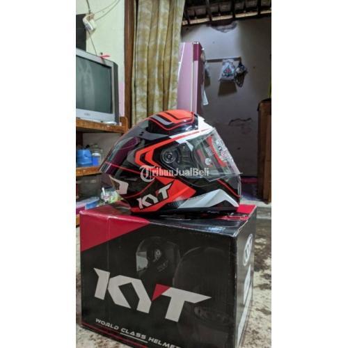 Helm Full Face KYT TT Course Overtech Size M Bekas Terawat Mulus - Sukoharjo