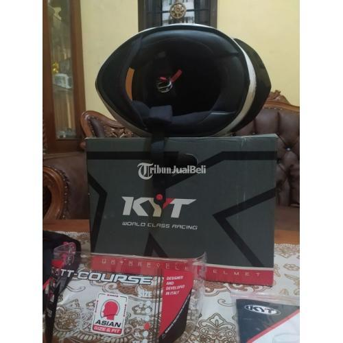 Helm Full Face KYT TT Course Size L Bekas Mulus Like New - Bandung