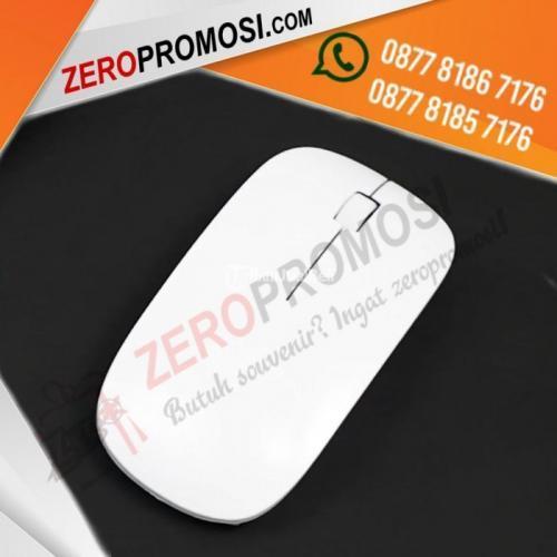 Souvenir Optical Wireless Mouse Glossy White Tipe MW03 - Tangerang