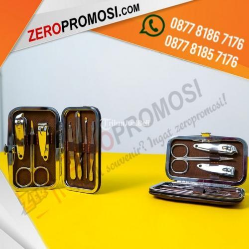 Souvenir Manicure Set Mini MD03 Promosi Warna Black Leather - Tangerang