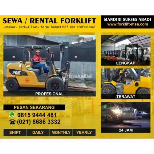 Rental Forklift Sewa Forklift Klapanunggal 24 Jam Include BBM Harga Terjangkau - Bogor