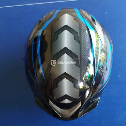 Helm KYT Vendetta 2 Blue Carbon Size M Bekas Visir Clear Mulus - Surabaya