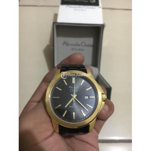 Jam Tangan Alexandre Christie Primo Steet 101 Black Gold Bekas Fullset - Bandung