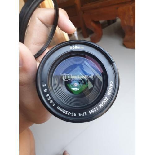 Lensa Tele Canon 55-250mm Fullset Bekas Fungsi Normal Harga Nego - Ngawi