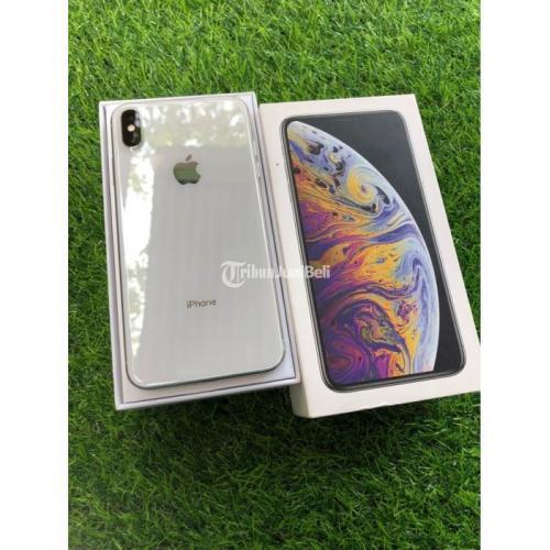 HP iPhone Xs Max 256GB Silver ex Inter Bekas Fullset Fungsi Normal - Mojokerto