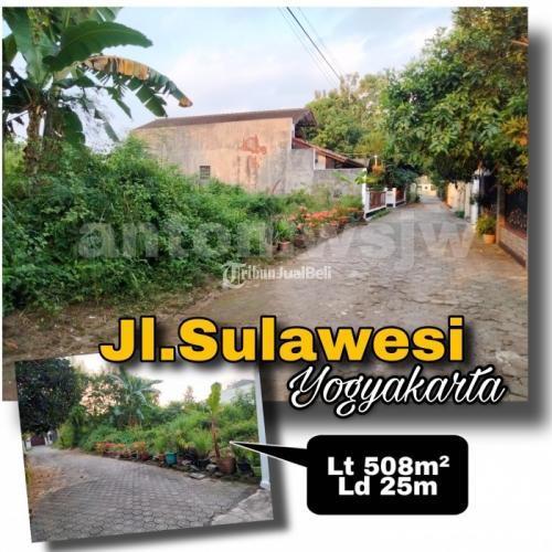 Dijual Tanah Strategis Jl.Sulawesi lebar 25m.Mobil Papasan.Belakang BALEAGUNG Residence - Sleman