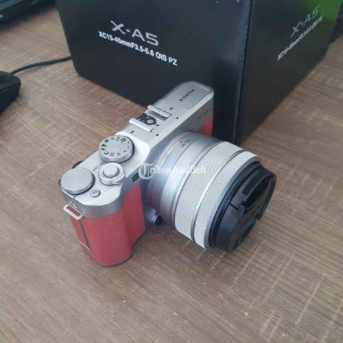 Kamera Mirrorless Fujifilm XA5 Kit XC 15-45mm OIS Bekas Fullset Normal - Karanganyar