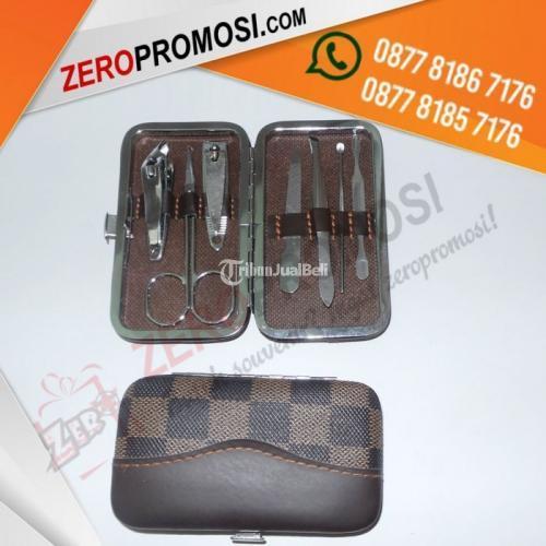 Souvenir Promosi Manicure Set Mini Wanita MD02 Warna rown Leather - Tangerang