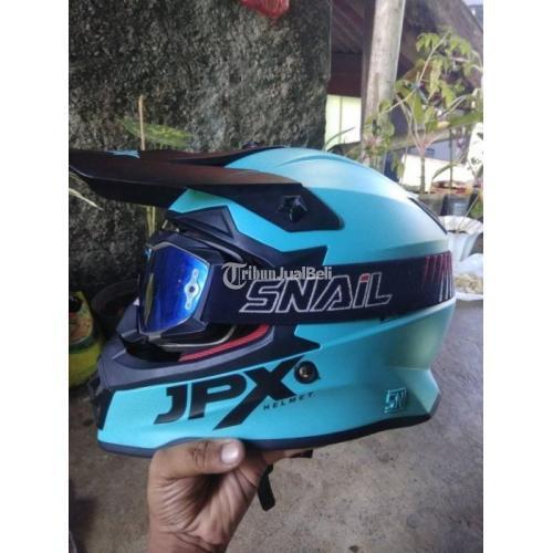 Helm JPX Cross Warna Biru Size S Kondisi Bekas Harga Nego - Bandung