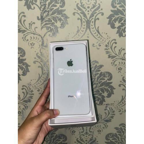 HP iPhone 8 Plus 64GB Grey Fullset Bekas Fungsi Normal Bonus Hardcase - Surabaya