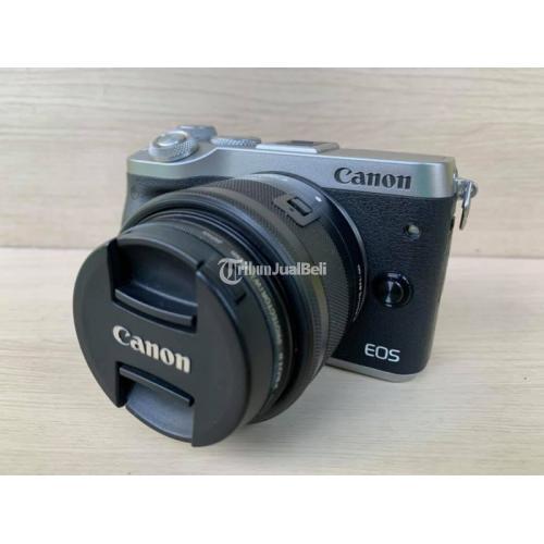 Kamera Mirrorless Canon M6 No Box Harga Murah Bekas Normal Mulus - Kudus
