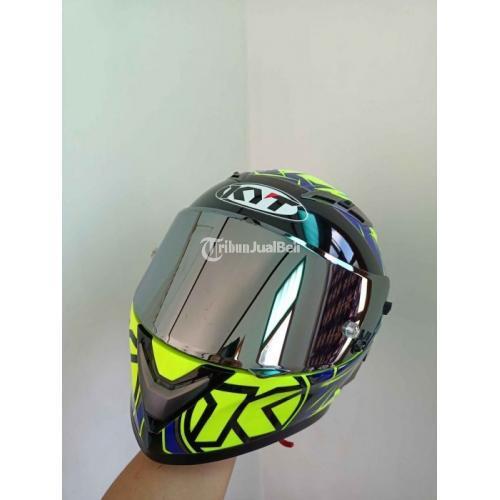 Helm Full Face KYT Falcon Armour Yellow Size Xl Bekas Like New Harga Nego - Jogja