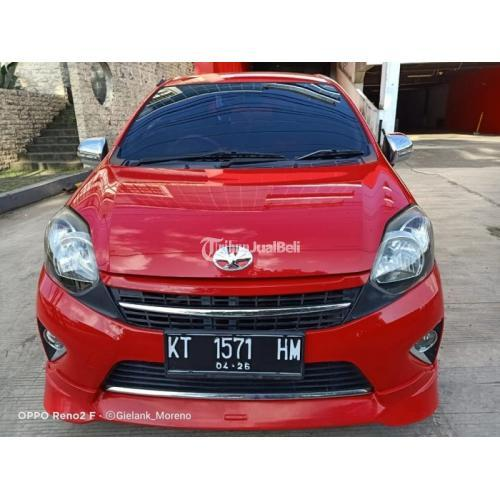 Mobil Toyota Agya TRD S Matik 2016 Merah Bekas Tangan 1 Mesin Normal - Samarinda
