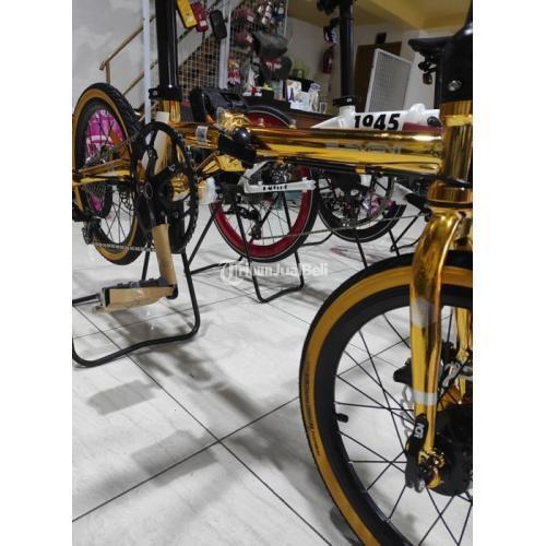 Sepeda Lipat Element Troy Chromoly 10 Speed Gold Baru Harga Promo - Makassar