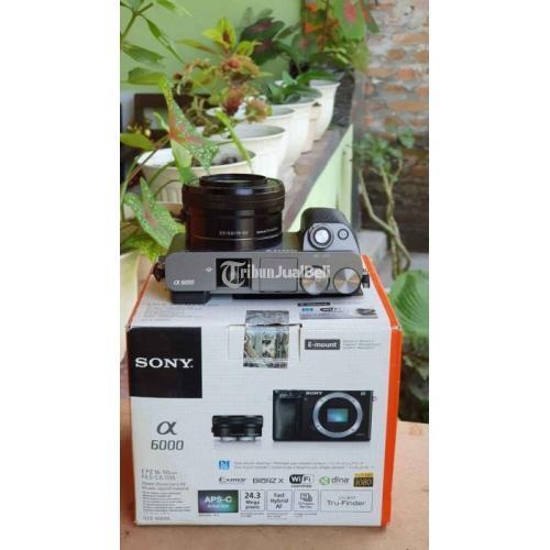 Kamera Sony A6000 Mirrorless Warna Gray Bekas Like New Normal - Jogja