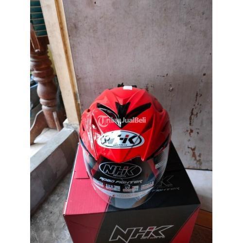 Helm NHK R6 Red Doff Ukuran M Baru Original Fullset - Surabaya